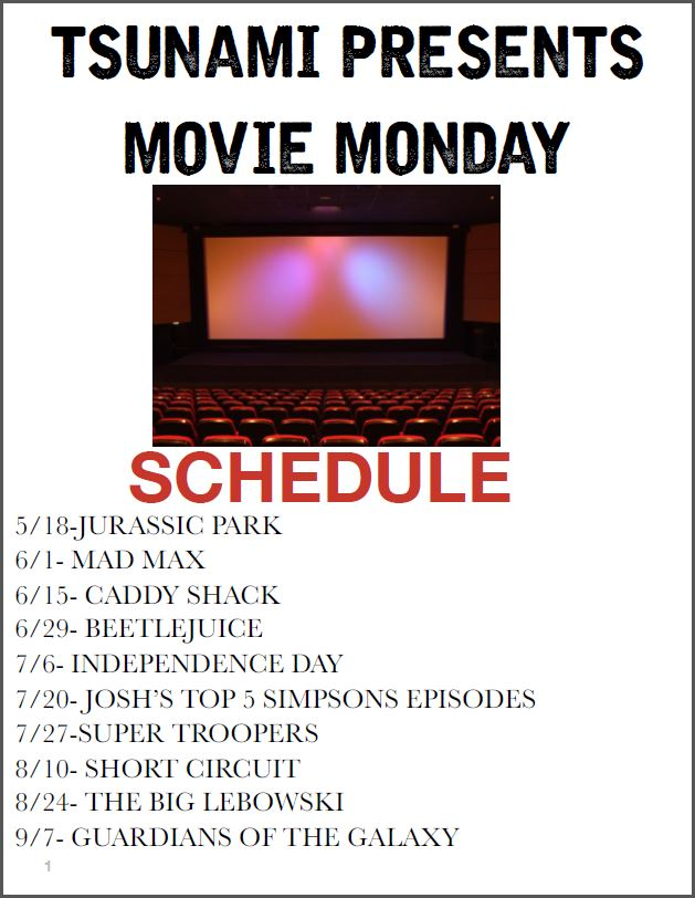 Movie Mondays @ Tsunami | Annapolis | Maryland | United States